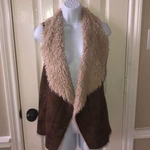 Faux Fur/Leather Vest